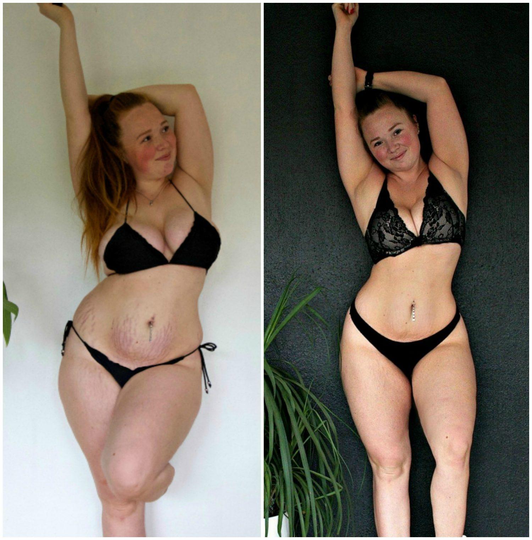 Nesten samme stilling, nesten 20 kilo lettere!