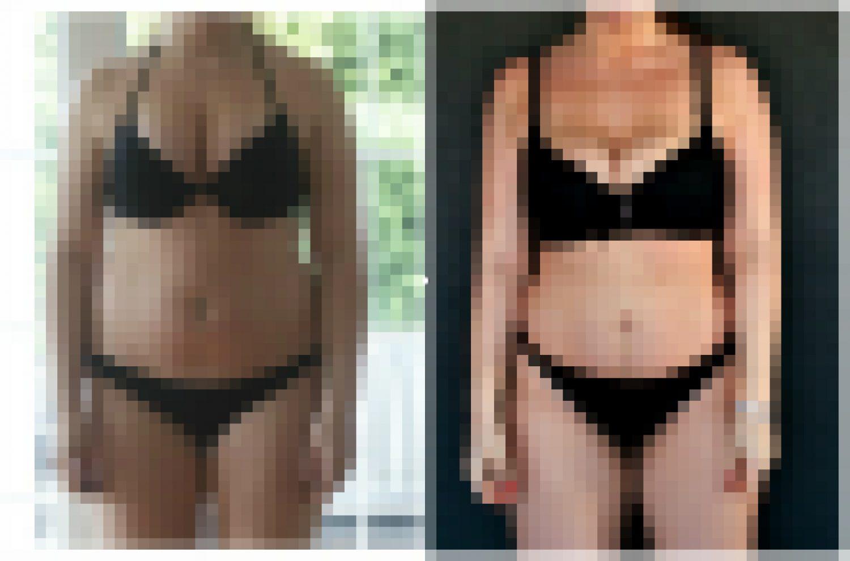 Kroppen min før og etter et svangerskap!