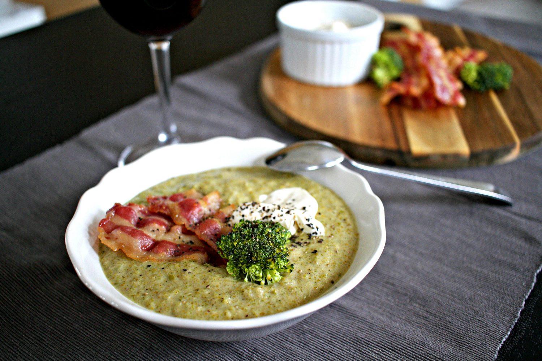 LCHF: kremet og fyldig brokkolisuppe med bacon!